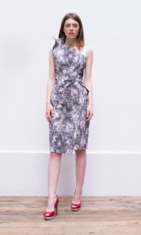 marble print dress_front3